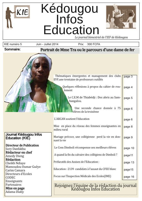 Téléchargez le journal Kédougou Infos Education(KIE)