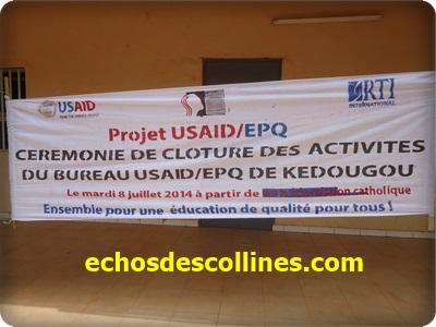 Kédougou : Le projet Usaid/Epq met fin à ses activités
