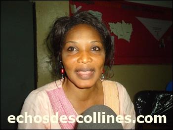 Mme Justine Laison secrétaire exécutive   de la CONAFE en mission à Kédougou