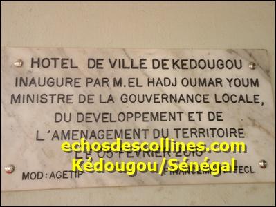 Kédougou: L'hôtel de ville de Kédougou d'un coût de 165 millions a été inauguré ce jeudi