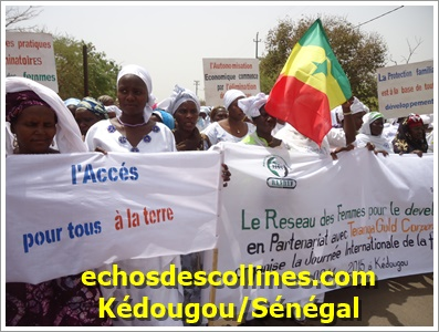 Kédougou: Le réseau des femmes a célébré la journée de la femme
