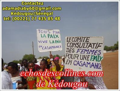 Kédougou: Les femmes se mobilisent pour la Paix en Casamance