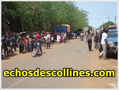 Kédougou: Accident, un motocycliste cogne un vélo cycliste