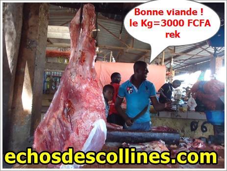 Kédougou: Les bouchers augmentent le prix de la viande, c'est cher…
