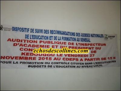 Kédougou: L'antenne régionale de la COSYDEP renouvelle ses instances