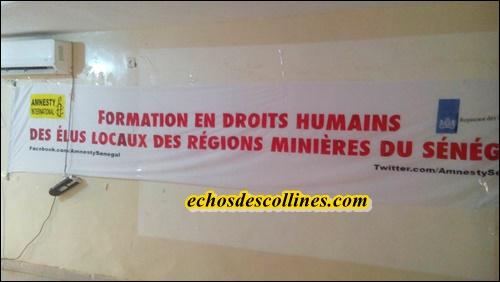Kédougou: Amnesty international Sénégal forme les élus sur les droits humains
