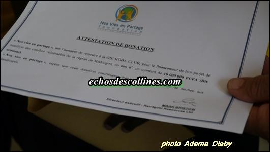 Ndéweneul: Randgold offre 10 millions de FCFA au Gie Koba Club1 Kédougou