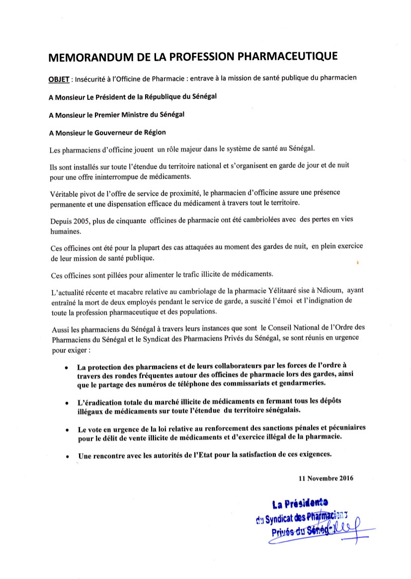memorandum-des-pharmaciens-du-11-nov-2016