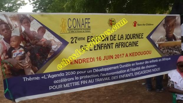 Kédougou: 16 juin , Journée de l'enfant africain, la CONAFE plaide pour ….