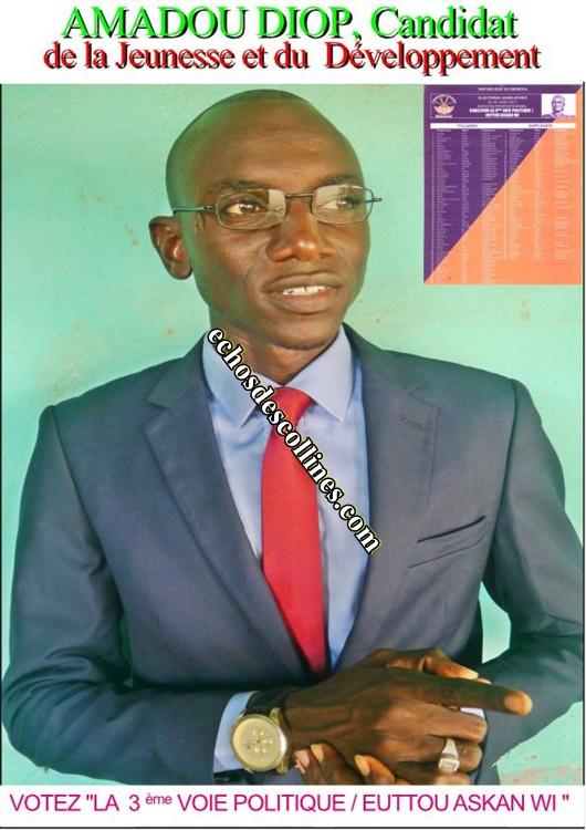 Législatives 2017: Le candidat Amadou Diop, le choix de la jeunesse et…
