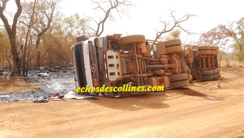 Kédougou: Alerte, un camion citerne s'affale sur la voie
