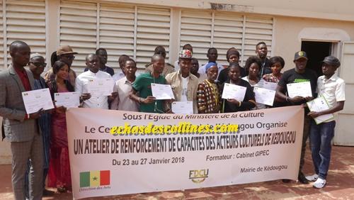 Kédougou: Clôture de l'atelier de renforcement de capacités des acteurs de la culture urbaine.