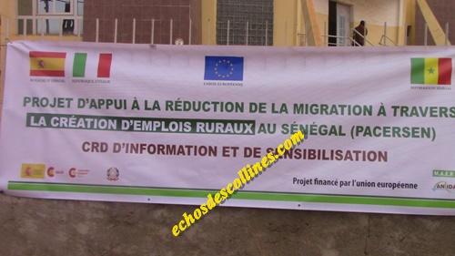 Kédougou: Le PACERSEN, une autre opportunité offerte aux candidats à la périlleuse aventure de l'émigration irrégulière.