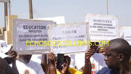 Kédougou: Fête du travail, un mémorandum a été transmis à l'autorité