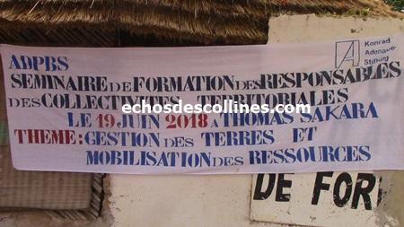 Kédougou: Les responsables de collectivités territoriales formés sur la gestion du foncier et la mobilisation des ressources