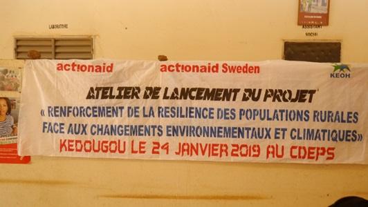Kédougou: C'est parti pour un nouveau projet d''adaptation aux changements…